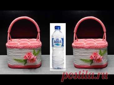 DIY Plastic Bottle Craft Ideas | Ide Kreatif Keranjang dari Botol Plastik Bekas