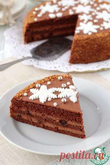 Домашний шоколадный торт с черносливом.