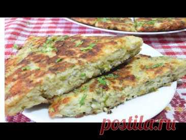 Еда для диабетика | Сырная лепешка на сковороде. Мой любимый рецепт, ленивые меня поймут.