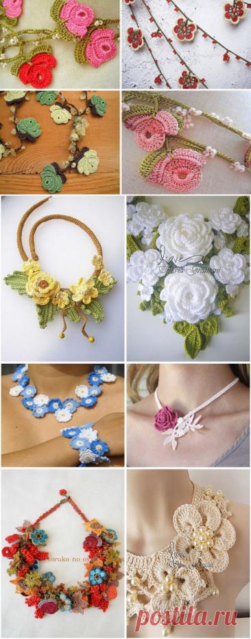 ¡Las pulseras estupendas tejidas, el pendiente, el collar! 150 adornamientos hermosos por el gancho y los rayos...
