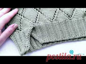 Вязание. Обработка низа изделия.//Knitting //Master class.