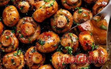 Грибы с чесноком и маслом. Даже самые простые грибы становятся вкусными, как в ресторане