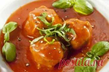 Тефтели с рисом в томатной подливе в духовке, рецепт с фото   Вкусные кулинарные рецепты