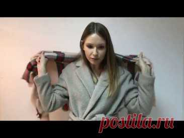 Как носить платок и палантин