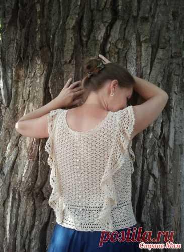 Блуза с воланами крючком. Он-лайн - Вяжем вместе он-лайн - Страна Мам