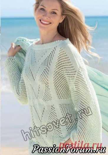 Джемпер сетка | Вязание для женщин спицами.