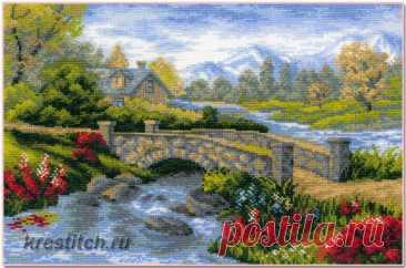 Летний пейзаж (арт.1078 Риолис) купить в Stitch и Крестик