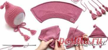 Детские шапочки, шарфики и береты спицами или крючком с описанием - Результаты из #60