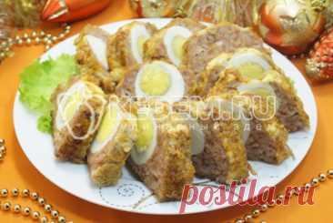 Рулет из фарша с яйцом в духовке – Пошаговый рецепт с фото. Новогодние рецепты 2022. Новогодние вторые блюда