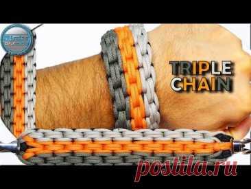 Как сделать браслет из паракорда с тройной цепочкой