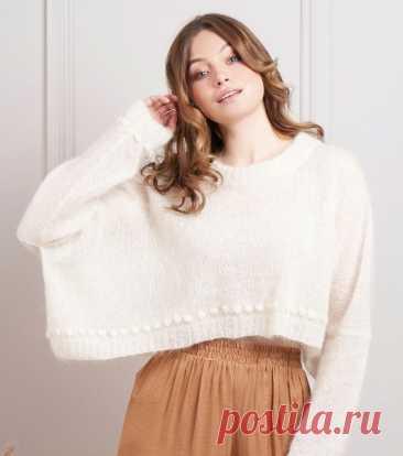 Пуловер спицами Piper