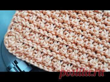Вяжем универсальный рельефный узор спицами 🍓 knitting pattern.