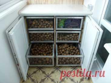 Хранилище для картофеля на балконе своими руками