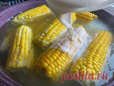 Забытый русский способ варить кукурузу. Про него несправедливо забыли, очень зря. Получается в 5 раз вкуснее   Отчаянная Домохозяйка   Яндекс Дзен