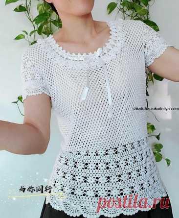 Блуза крючком для женщин схемы