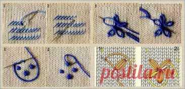 А давайте украсим свои кофточки и свитера весенними цветами - примеры и способы вышивки по вязанному полотну - Сам себе мастер - медиаплатформа МирТесен