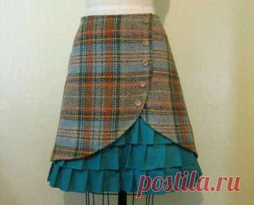 Идея юбки с запахом.