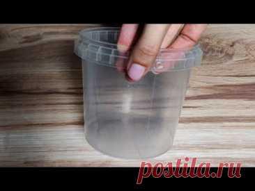 Что можно сделать из пластикового ведра от продуктов Идея переделки