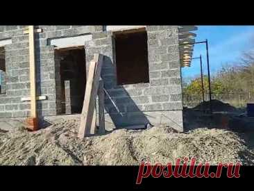 Построили дом из Арболитовых блоков в Махошевской, строим энергоэффективные дома, Арболит Юг