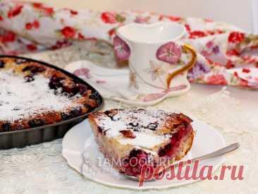 Проверенный рецепт приготовления вкусного заливного пирога со смородиной, шаг за шагом с фотографиями.