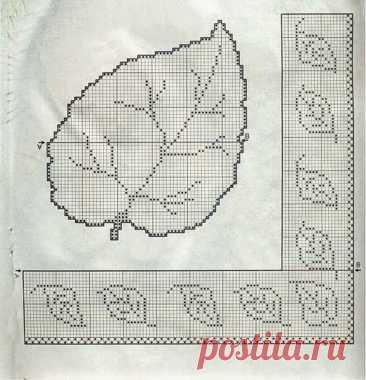 Красивые филейные салфетки с цветами и листьями: вязание крючком