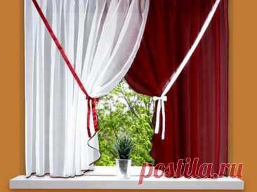 Мудрые хозяйки вешают шторы без карниза именно так...