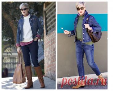 Классные образы с джинсовой курткой для дам элегантного возраста: Просто и стильно И снова здравствуйте, вы на канале «Школа стиля 50+». Если вы любите джинсовую одежду, то новая статья будет для вас интересной. Сегодня поговорим о том какие образы можно составить с джинсовой курткой дамам элегантного возраста. Фото 1, 2 — источник Pinterest. Многие думают, что джинсовая куртка хорошо сочетается только с джинсами. Безусловно джинсы + джинсовая […] Читай дальше на сайте. Жми подробнее ➡
