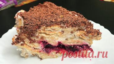 Готовим новогодний вишнёвый торт без выпечки. (Вишнёвое наслаждение) Вкусно, просто | ГОТОВИМ С ЗЁЗОМ | Яндекс Дзен
