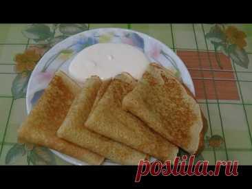Блины на кефире и молоке - пошаговый рецепт с фото на Повар.ру