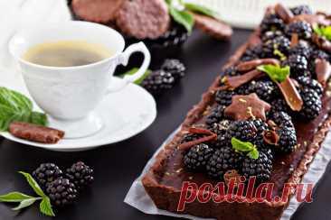ღШоколадный тарт с ежевикой