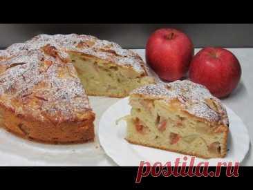 Много ЯБЛОК, мало ТЕСТА! Простой Яблочный пирог - получится У ВСЕХ!!!
