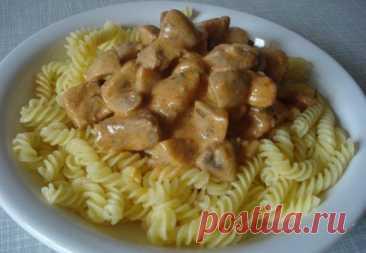 Идеальное блюдо – Мясо с грибами в сырном соусе