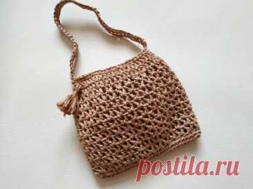 Отличная сумка из рафии на лето » «Хомяк55» - всё о вязании спицами и крючком