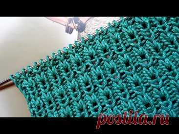 Лёгкий способ связать красивую резинку 🙋♀️ knitting pattern.