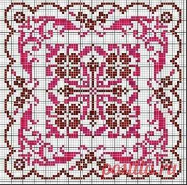 Большая подборка схем для вышивки интересных орнаментов