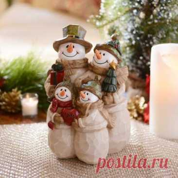 Снеговики своими руками: 25 идей от рукодельниц ~ ALL-DEKOR
