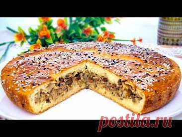 Заливной пирог с капустой и печенью, рецепт нежного теста на кефире и сметане