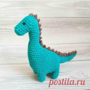 1000 схем амигуруми на русском: Вязаный динозавр крючком
