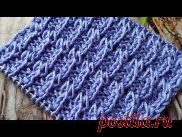 Такой рельефный узор спицами вы ещё не встречали 💗 knitting pattern.
