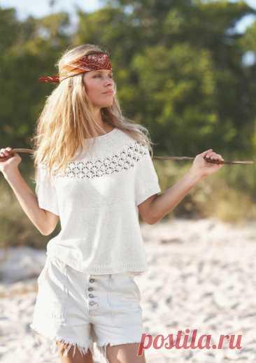 Вдохновляемся и вяжем: 5 летних скандинавских моделей с описаниями | Anna Kuznetsova Knitting | Яндекс Дзен