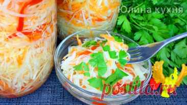 Быстрая маринованная капуста: вкусный салатик на каждый день