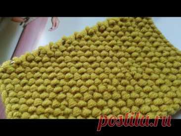 "Бомбический узор ""Циновка"" спицами 🚀 knitting pattern."