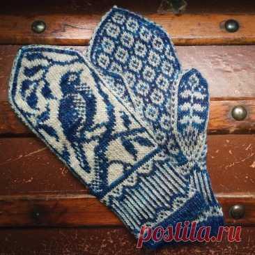 PDF Knitting Pattern Songbird Mittens | Etsy