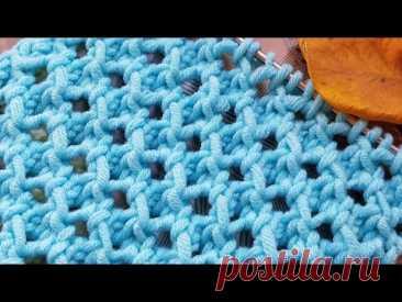 """Такой узор """"Соты"""" вы ещё не вязали 🌺 knitting pattern."""