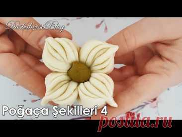 Farklı Değişik Poğaça Şekilleri nasıl yapılır 4.bölüm -How to make different shape of bread rolls