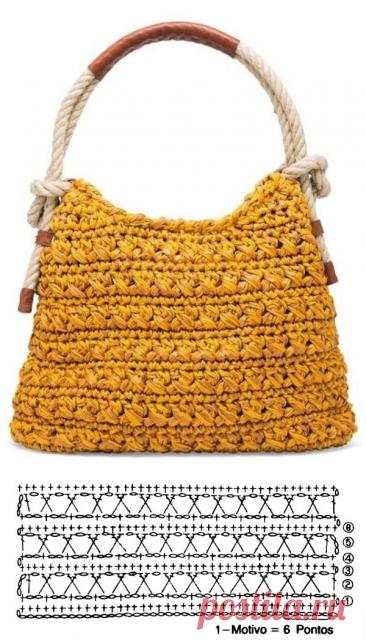 20 вязаных крючком летних сумок и схемы к ним   Вязаная мода: подиум и жизнь   Яндекс Дзен