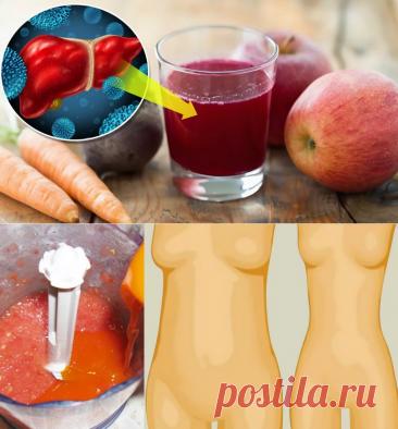 Детокс-напитки, которые за 48 часов выведут из организма токсины и уберут лишний вес...