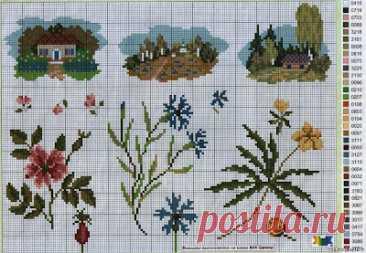Мой блог: Схемы миниатюр для вышивания крестом