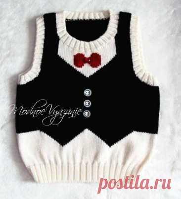 Жилет для мальчика *Джентльмен* - Modnoe Vyazanie ru.com