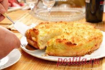Пирог с бананами на сковороде без лишней возни